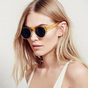 FREE PEOPLE Dixie Two Tone Yellow Sunglasses NWT!